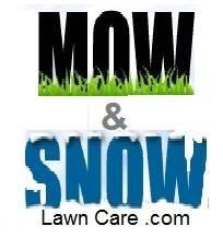 Mow & Snow Lawn Care Logo