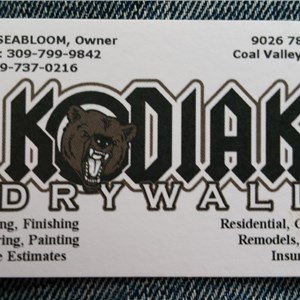 Kodiak Drywall Logo