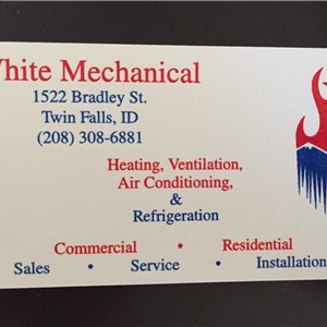 White Mechanical Logo