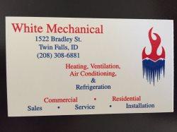 White Mechanical Logo