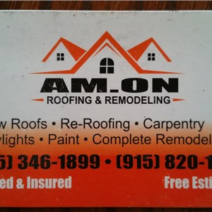 Am.on Roofing and Remodeling Logo