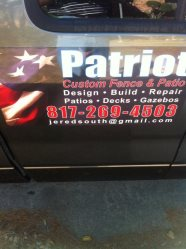 Patriot Custom Fence and Patio Logo