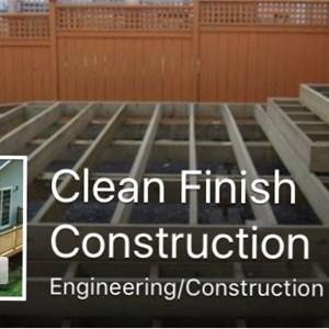 Clean finish construction Logo