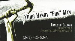 Your Handy Ern Man Logo