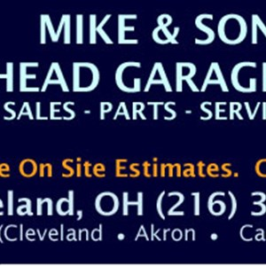 Mike & Son Garage Door Specialist Logo