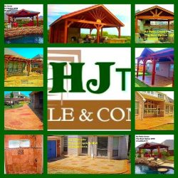 HJ Cedar Patio Cover and Stamped  Concrete Logo
