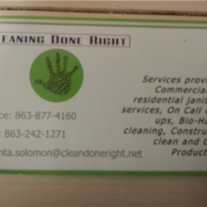 Cleaning Done Right Logo