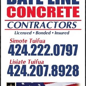 Date Line Concrete Contractors Logo