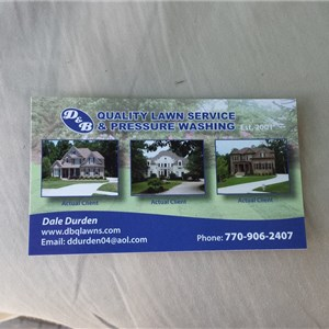 D & B Quality Lawn Service & Pressure Washing Cover Photo