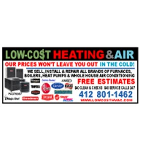 Low Cost Heating & Air Logo