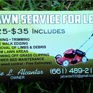 Lawn Service Four Less Cover Photo