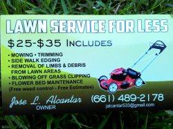 Lawn Service Four Less Logo
