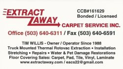 Extract Away Carpet & Installation Service Inc. & Handyman Services Logo