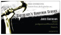 Gautreauxs Handyman Service, LLC Logo
