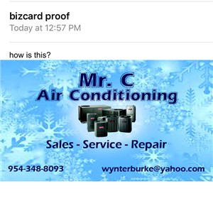 Mr C air Conditioning Logo