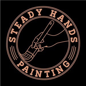 Steady Hands Painting Logo