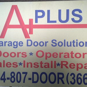 A+ garage door solution Logo