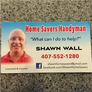 Shawn Wall Home Savers Handyman Logo