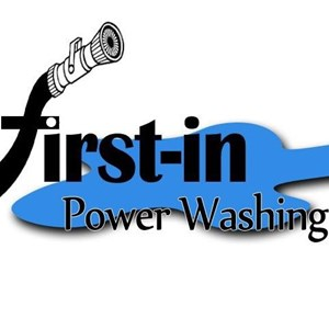 First-in Power Washing Logo