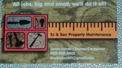 Sj & Son Property Maintenance Logo