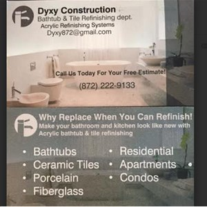 Dyxy Construction and Tubs Refinishing Logo