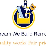 You Dream We Build Remodeling Logo
