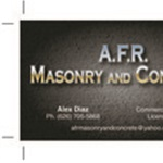 A.f.r. Masonry and Concrete Logo