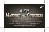 A.f.r. Masonry and Concrete Logo
