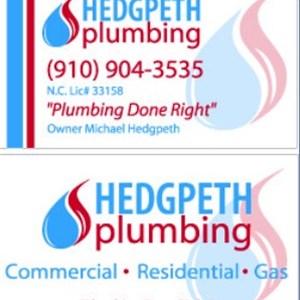 Hedgpeth plumbing company Logo