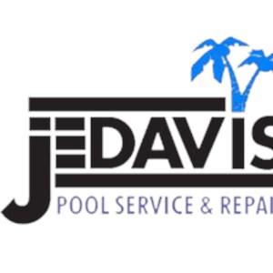 J E Davis Pool Service & Repair Logo
