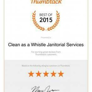 Clean as a Whistle Janitorial Services Logo