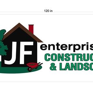 Jf Enterprises, Construction and Landscaping Logo