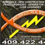 Balden Electrical Specialists (bes) Logo
