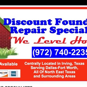 Discount Foundation Repair Specialists Logo