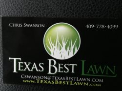 Texas Best Lawn & Landscaping/irrigation Logo