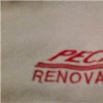 B. Peck Roofing and Siding Logo
