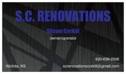S.c. Renovations Logo