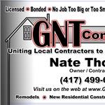 Gnt Construction  Logo