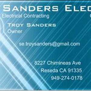 Sanders Electric Cover Photo