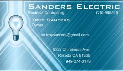 Sanders Electric Logo