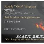 Blazin Brushes Painting Logo