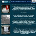 Hydraulic Foundation Repair Cover Photo