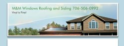 M&M Windows Roofing and Siding Logo