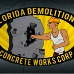 Florida Demolition and Concrete Works, Corp Logo
