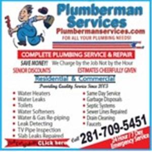 Plumberman Services Logo