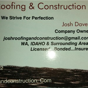 Joshs Roofing & Construction Cover Photo