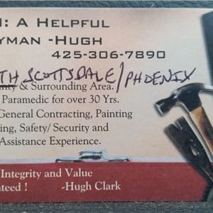 Ahhh: A Helpful Handyman -hugh Logo