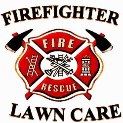 Firefighter Lawn Care Logo