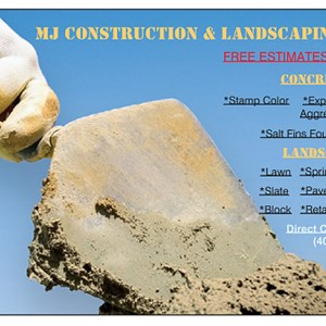 MJ Construction & Landscaping Logo