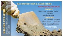 MJ Construction & Landscaping Logo